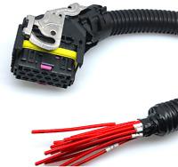 For Bosch EDC7 16Pin Way Plug ECU Connector PC Board Truck Socket Wiring Harness