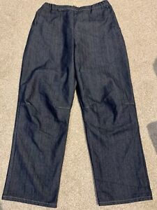 WALL LONDON Elasticated Chambray Jean Jeans Trousers Size L VGC