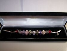 KAY JEWELERS CHARMED MEMORIES STERLING SILVER CHARM BRACELET W/11 CHARMS 7""