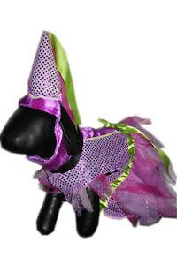 FROU FROU PRINCESS Dog Costume Sparkle Fabric Sequins Tulle Hat Puppy Medium