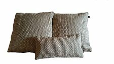3 Pillow Covers Nobilis Grain De Cafe Silver Cream - B4