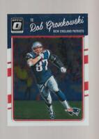 2016 Donruss Optic #63 Rob Gronkowski card, New England Patriots
