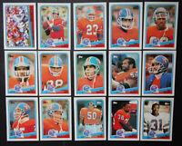 1988 Topps Denver Broncos Team Set of 15 Football Cards