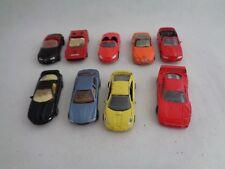 Lot of toy include BMW Ferrari Toyota Pontiac Maserati - Set of 9