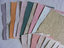 """Assorted Colors Handmade Paper Sheets - 10 Pieces 8.5 x 11 + 10 Pieces 7.25 x 6"""""""