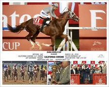 CALIFORNIA CHROME DUBAI WORLD CUP 2016 10 x 8 Photo