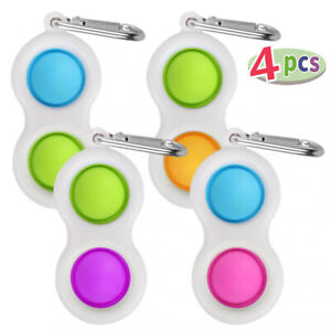 4pcs Newest Antistress Fidget Toys Simple Dimple Toy Pressure Reliever Board US