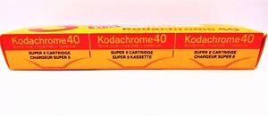 3 x Expired Kodachrome 40 Super 8 Film Cartridge - Expired 9/84