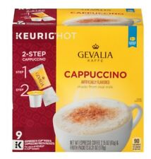 Gevalia Kaffe 2 Step Espresso Real Milk Cappucino Coffee K-Cups Keurig Hot