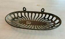 Antique Nickel Brass Brush Comb Sponge Soap Holder Vtg Bathroom Shelf 197-20J