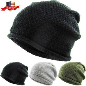 Thin Lightweight Slouchy Beanie Baggy Style Skull Cap Winter Unisex Ski Hat