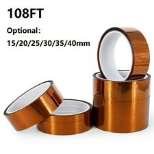 108ft 005mm High Temperature Heat Resistant Polyimide Tape Insulating 15 40mm