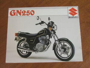 1982 Suzuki GN250 original Australian single page brochure