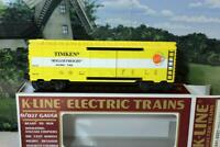 VINTAGE K-LINE TRAINS 641001 TIMKEN CLASSIC BOXCAR- 0/027 SCALE - NEW - B15
