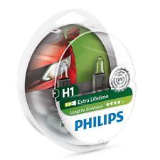 2x Philips H1 LongLife EcoVision Halógeno 4x Lifetime 12258LLECOS2