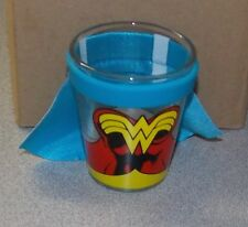 Set Of 4 Wonder Woman With Cape Shot Glass Brand New