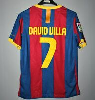FC BARCELONA SPAIN 2010 2011 HOME SHIRT JERSEY CAMISETA NIKE #7 DAVID VILLA BOYS
