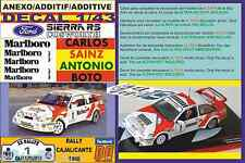 ANEXO DECAL 1/43 FORD SIERRA RS CARLOS SAINZ RALLY CAJALICANTE 1988 (01)