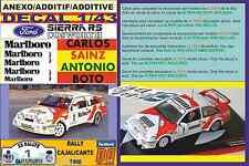 ANEXO DECAL 1/43 FORD SIERRA RS CARLOS SAINZ RALLY CAJALICANTE 1988 (01)