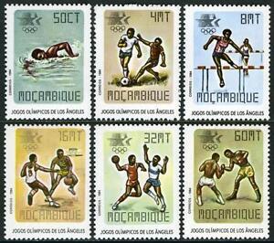 Mozambique 896-901, Mi 967-972, MNH Été Jeux Olympiques, Los Angeles, 1984