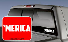 'MERICA usa Funny Car Vinyl decal sticker for car/truck/laptop/iPad America