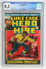 Marvel Comics Hero For Hire #1 CGC 8.5 1st Luke Cage Diamondback Romita 1972