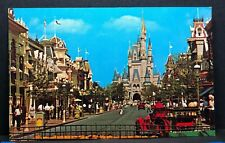 Vintage Postcard Fantasyland Main Street USA Walt Disney World