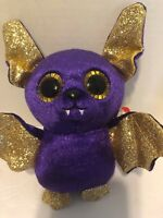 Ty Beanie Boos - COUNT the Purple Halloween Bat (6 Inch) 2018 NEW MWMT