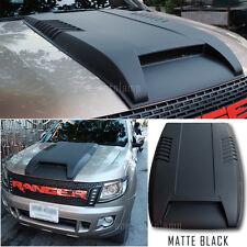 FIT 15+ RANGER T6 WILDTRACK PX XL XLT UTE BONNET SCOOP SID VENT MATTE BLACK ABS.