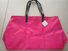 New Macy's Large Satin Pink Dot Tote Shopping Beach Bag  Size 21x12x7