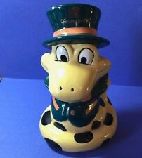 Cathay Bank year of the Snake with Top Hat  Piggy Bank Ceramic