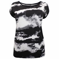 Sebix Black & White Camo Combat Army Zipped Cotton Summer Holiday T-shirt Top