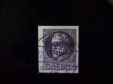 Stamp, Germany, Bavaria, Scott#169, used(o), imperforated, 80pf, violet