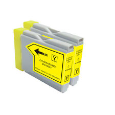 2 YELLOW Ink Cartridge Compatible for Brother LC51 MFC 665CW 685CW 845CW  885CW