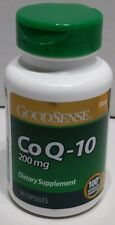 New GoodSense  CoQ10 Capsules, 200 mg, 90 Count Made in USA EXP 10/2021 BEST $$