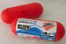 Extension Cord Safety Seal Hot Headz Orange Lot 2 Christmas Boat Garden Camping