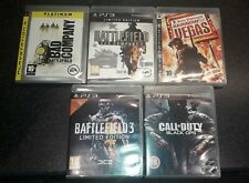 Ps3 games Battlefield 3 Bad company 1&2 , vegas,Black ops   X5 games