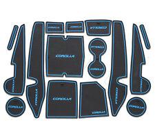 15pcs Car Interior Gate Slot Mat Cup Holder Rubber For COROLLA 2014-17 Blue