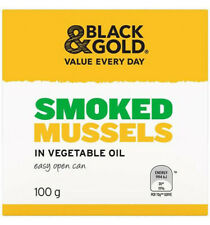 24x BLACK & GOLD SMOKED MUSSELS 100GM