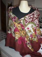 VINTAGE NEW  53X 53  Scarf Shawl  SALDARINI Multi-Color Wool SILK MADE IN ITALY