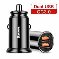 Baseus 30W Auto Ladegerät QC PPS Schnell Laden KFZ Dual USB Type C Ladeadapter