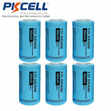 6x 18350 3.7V 900mAh Li-ion Rechargeable Battery Flat Top For flashlight PKCELL