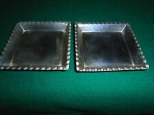 Silver Pin Trays 1888. A Pair of Victorian Solid