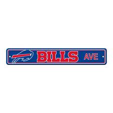 "New Buffalo Bills AVE Street Sign 24"" x 4"" Styrene Plastic Made in USA"