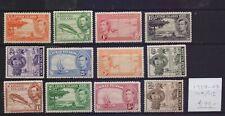 !  Cayman Islands 1938-1947.  Stamp. YT#104/115 . €90.00 !