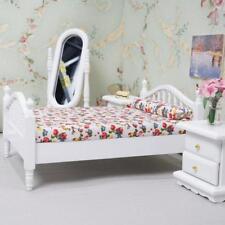 6xMini Floral Schlafzimmer Set für 1:12 Miniatur Puppenhaus Room Decor Geschenk.