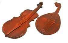 Vintage Royal Metal Wall Art Decor Mandolin & Violin Musical Instruments