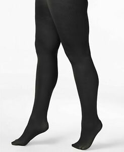 Berkshire Easy On Control Top Ribbed Tights Black Plus Size 1X/2X $16 - NWT