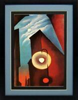 New York with Moon By Georgia O'keeffe Framed Art Print 15x20 Inches