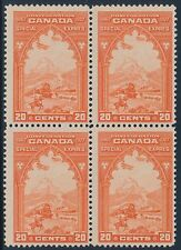 CANADA #E3 20¢ SPECIAL DELIVERY BLOCK OF 4 F-VF OG NH CV $240 BT7337